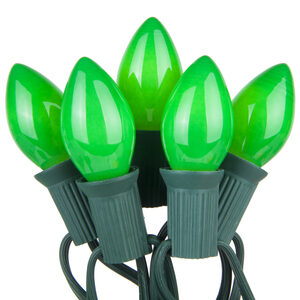 25 C7 Opaque Green Halloween Lights