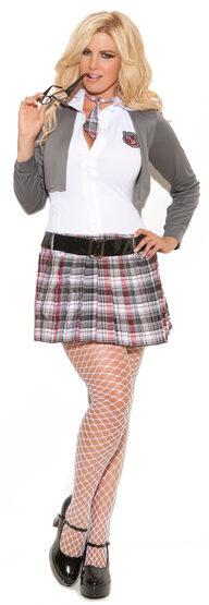 Queen of Detention School Girl Plus Size Costume