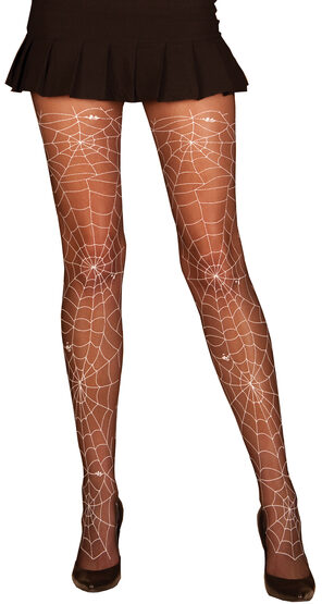 Black Glow in the Dark Webbed Pantyhose
