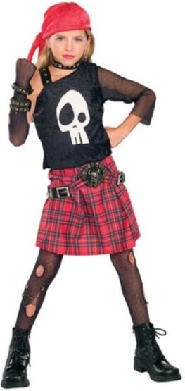 Punk Skull Diva Kids Costume