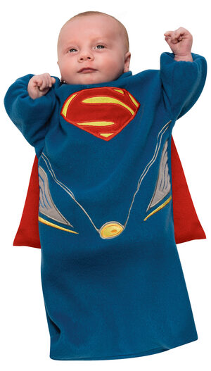 Man of Steel Bunting Superman Baby Costume