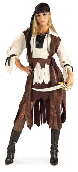 Womens Caribbean Pirate Babe Adult Costume
