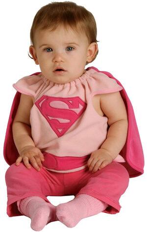 Supergirl Bib Baby Costume