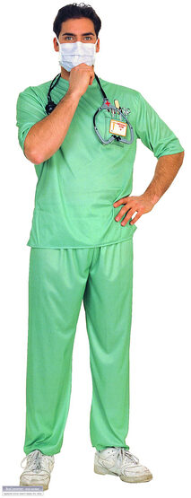 Emergency Room Male Surgeon Adult Doctor Costume