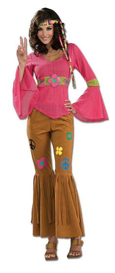 Woodstock Honey Adult Hippie Costume