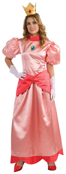 Super Mario Brothers Deluxe Adult Princess Peach Costume