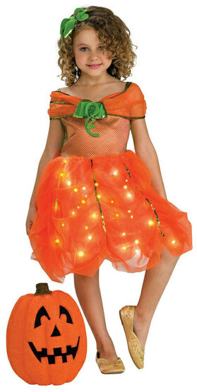 Kids Twinkle Pumpkin Princess Costume