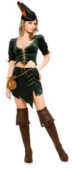 Womens Sexy Princess of Thieves Robin Hood Costume
