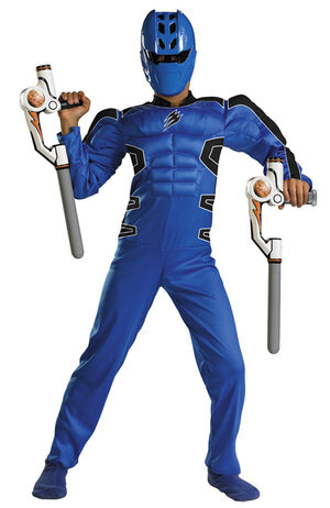 Kids Muscle Chest Blue Power Ranger Costume