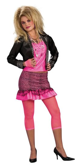 Womens Music Groupie Adult 80s Costume