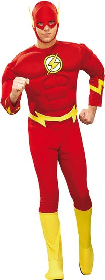 Flash Muscle Chest Adult Superhero Costume