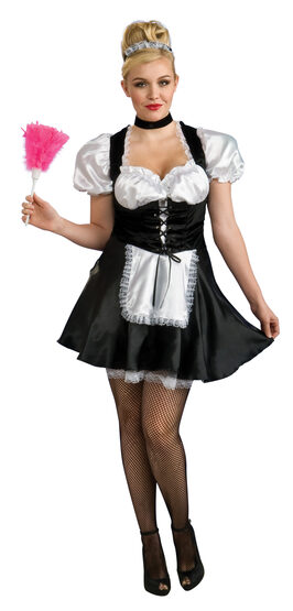 French Maid Plus Size Sexy Costume