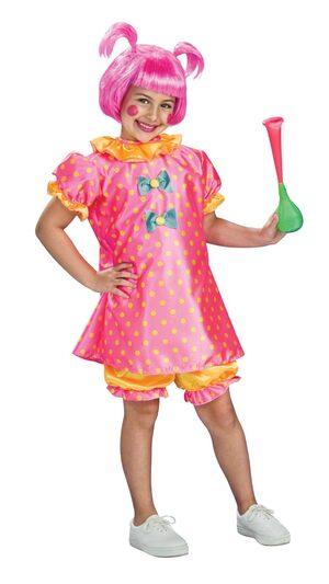 Girls Baby Doll Clown Kids Costume