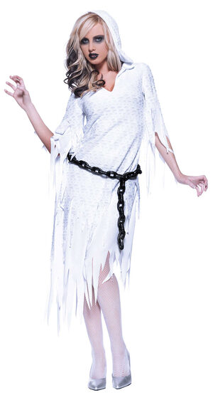 Womens Ghostly Haunt Ghost Costume