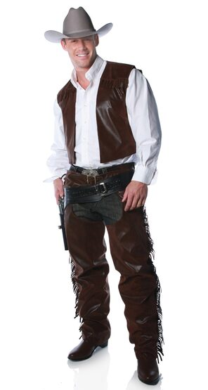 Adult Mens Cowboy Chaps Costume