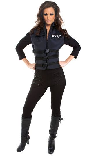 Sexy Lady SWAT Cop Costume