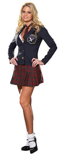 Prep School Delinquent Sexy School Girl Costume