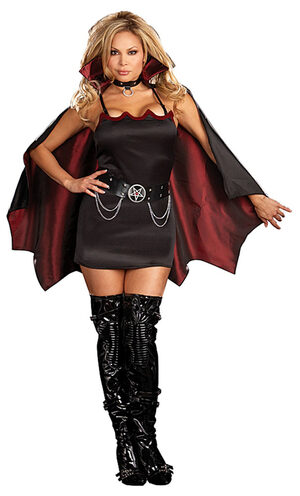 Fang Banging Fun Sexy Plus Size Vampire Costume