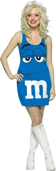 Sexy Blue M and M Costume