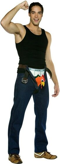 Rock Out with Your C--k Out Funny Adult Costume