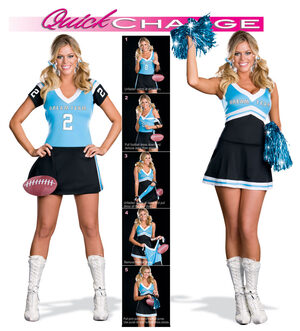 Quick Change Dream Team to Sexy Cheerleader Costume