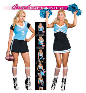 Quick Change Dream Team to Cheerleader Sexy Plus Size Costume