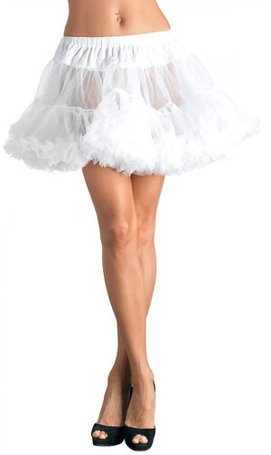 Womens White Layered Tulle Petticoat