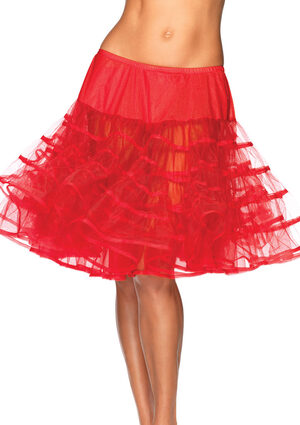 Red Knee Length Petticoat