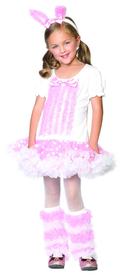 Pink Fluffy Bunny Kids Costume