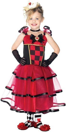 Wonderland Queen of Hearts Kids Costume