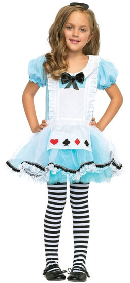 Adorable Alice In Wonderland Kids Costume