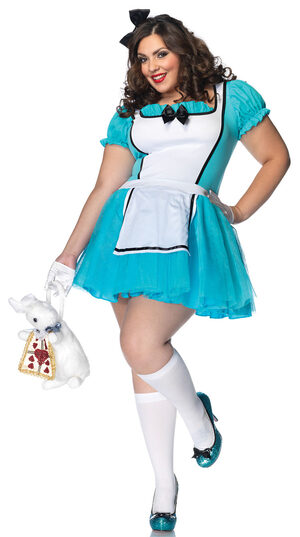 Enchanted Alice in Wonderland Plus Size Costume