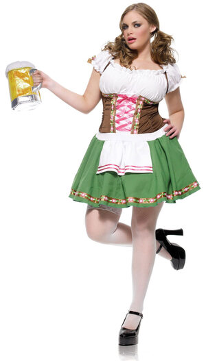 Gretchen Sexy Beer Girl Plus Size Costume