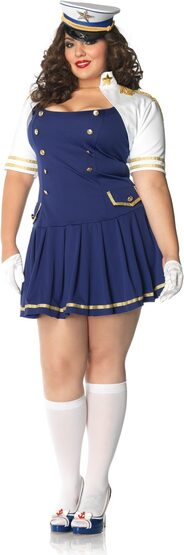 Captain Ship Shape Sailor Plus Size Costume
