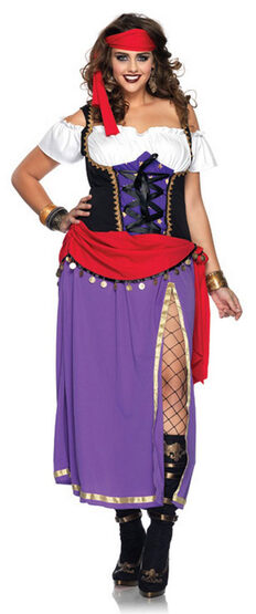 Womens Traveling Gypsy Renaissance Plus Size Costume