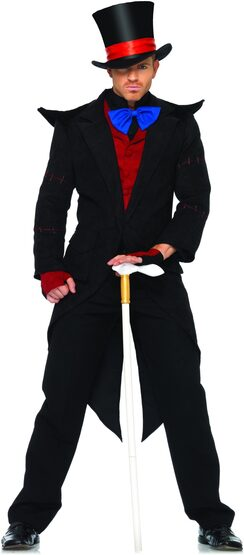 Mens Evil Mad Hatter Costume