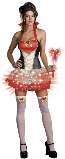 Lightup Sexy Queen of Hearts Costume