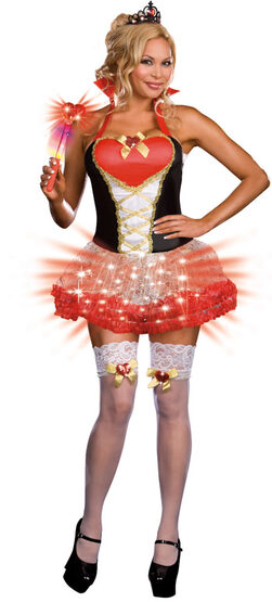 Lightup Queen of Heartbreakers Sexy Plus Size Costume