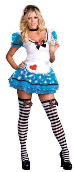 Wonderland Delight Lightup Naughty Alice Costume