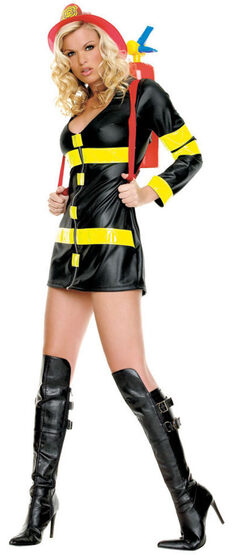 Sexy Hot Fire Woman Firefighter Costume