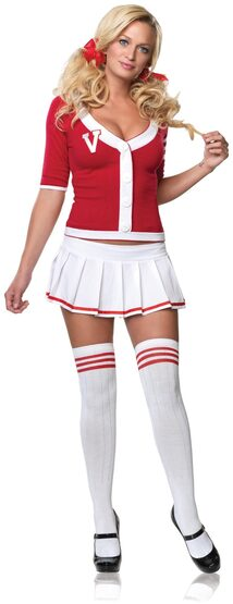 Sexy Varsity Vixen College School Girl Costume