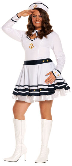 Anchors Away Sailor Girl Plus Size Costume