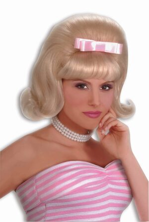 Womens Bouffant Blonde 50s Wig