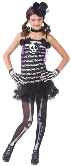 Girls Skeleton Sweetie Kids Costume