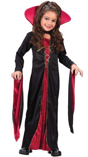 Kids Gothic Victorian Vampiress Costume