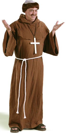 Mens Medieval Monk Adult Costume