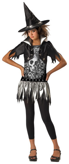 Sassy Gothic Kids Witch Costume