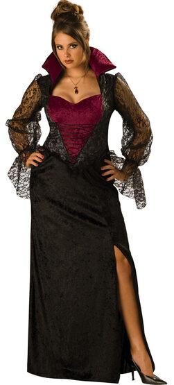 Sexy Midnight Vampiress Plus Size Costume