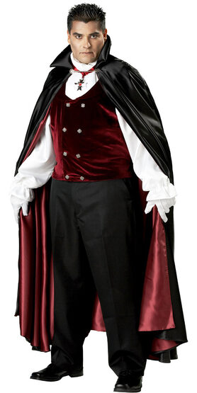Mens Gothic Vampire Plus Size Costume