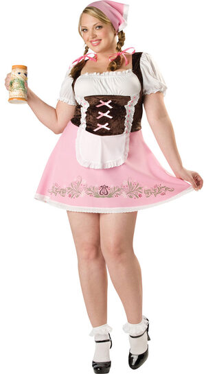 Fetching Fraulein Plus Size Sexy Beer Girl Costume